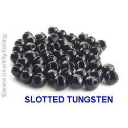 SLOTTED TUNGSTEN BEADS BLACK