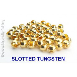 SLOTTED TUNGSTEN BEADS GOLD