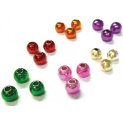 METALLIC BRASS BEADS 25 pcs