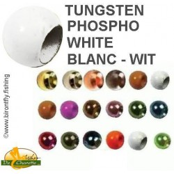 TUNGSTEN BEADS WHITE PHOSPHO JMC