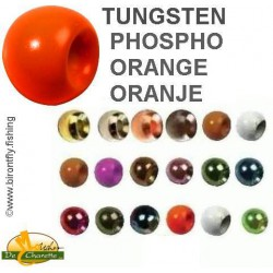 TUNGSTEN BEADS ORANGE PHOSPHO JMC