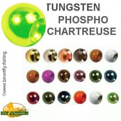 TUNGSTEN BEADS CHARTREUSE PHOSPHO JMC