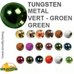TUNGSTEN BEADS METALLIC GREEN JMC