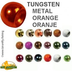 TUNGSTEN BEADS METALLIC ORANGE JMC