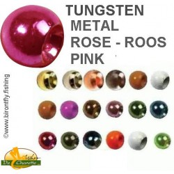TUNGSTEN BEADS METALLIC PINK JMC