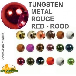 TUNGSTEN BEADS METALLIC RED JMC
