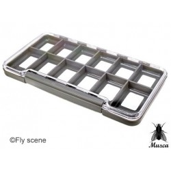 SLIM  DRY FLY BOX LARGE 12 COMPARTMENT from MUSCA