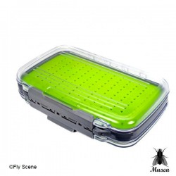FLY BOX CLEAR WATERPROOF EASY GRIP SILICONE LARGE from MUSCA