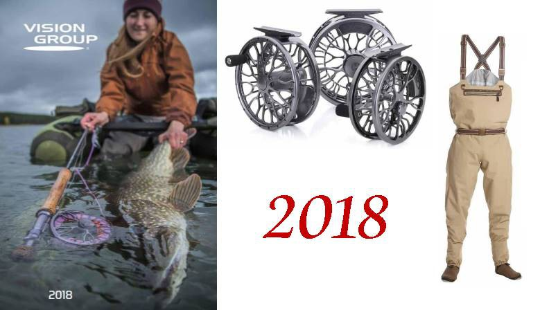 marque VISION in fly fishing catalogue 2018